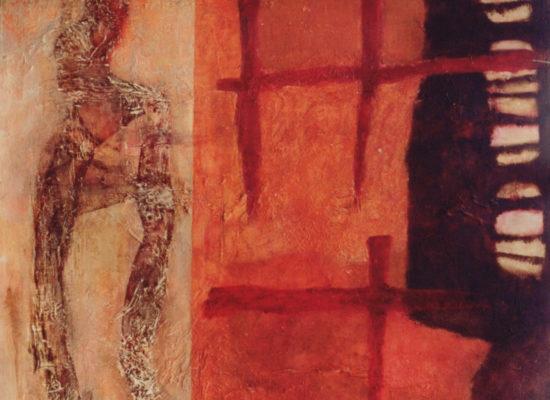 3. La mujer y la muerte - 1993 - Oil on canvas - 130 x 100 cm / 51 x 39 1/4 in - Private Collection Santiago, Chile
