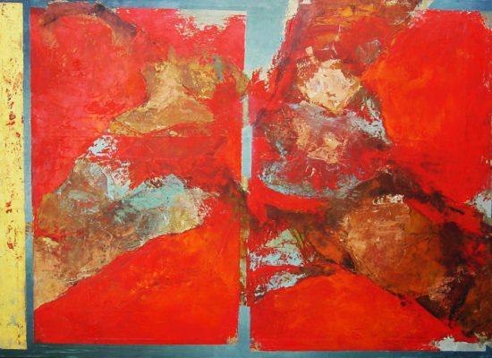 1. Devenir - 2001 - Oil on canvas - 87 x 122 cm / 34 x 48 in - Private Collection Santiago, Chile