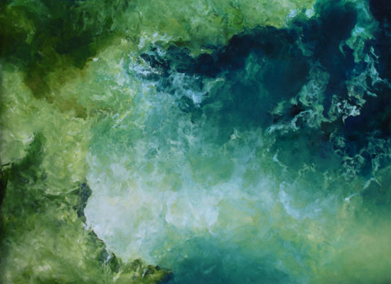 2. Ocean & bay - 2012 - Oil on canvas - 97 x 130 cm / 38 x 51 in - Private Collection Santiago, Chile