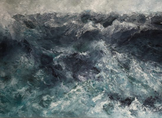 2. Stormy day 1 - 2017 - Oil on canvas - 97 x 162 cm / 38 x 63 ¾ in - Private Collection Brussels