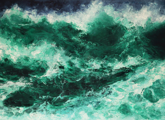 3. Green tide - 2017 - Oil on canvas - 95 x 146 cm / 37 ½ x 57 ½ in - Private Collection Santiago, Chile