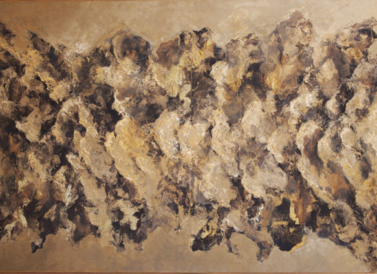 5. Bones - 2007 - Oil on canvas - 97 x 162 cm / 38 x 63 3/4 in - Private Collection Santiago, Chile
