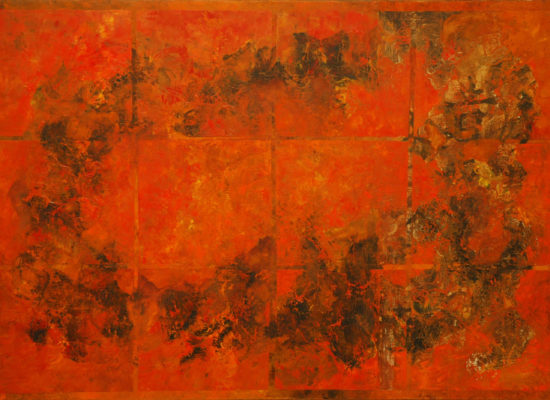 5. Red Garden - 2006 - Oil on canvas - 87 x 127 cm / 34 x 50 in - Private Collection Bogota