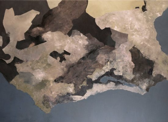 5. Urban map - 2014 - Oil on canvas - 89 x 146 cm / 35 x 57 1/2 in - Private Collection Santiago, Chile