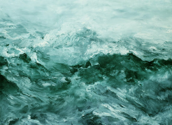 6. Arctic tide - 2017 - Oil on canvas - 81 x 100 cm / 32 x 39 ¼  in - Private Collection Santiago, Chile
