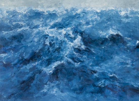 6. Marea alta - 2015 - Oil on canvas - 95 x 145 cm / 37 1/2 x 57 in - Private Collection Los Angeles, CA