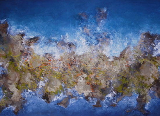7. Blue Island - 2008 - Oil on canvas - 97 x 146 cm / 38 x 57 1/2 in - Private Collection Encino, CA
