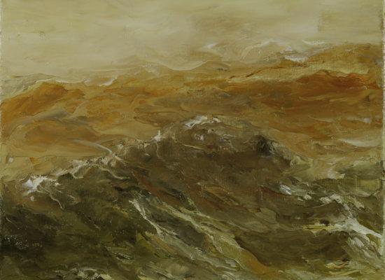 7. Golde Tide - 2017 - Oil on canvas - 40 x 40 cm / 15 ¾ x 15 ¾ - Private Collection Krotrijk