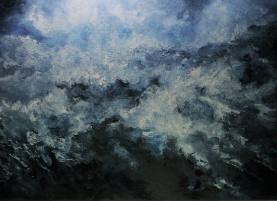5. Stormy Night 1 - 2019 - Oil on canvas -81 x 130 cm / 31 ¾ x 51 ¾  in